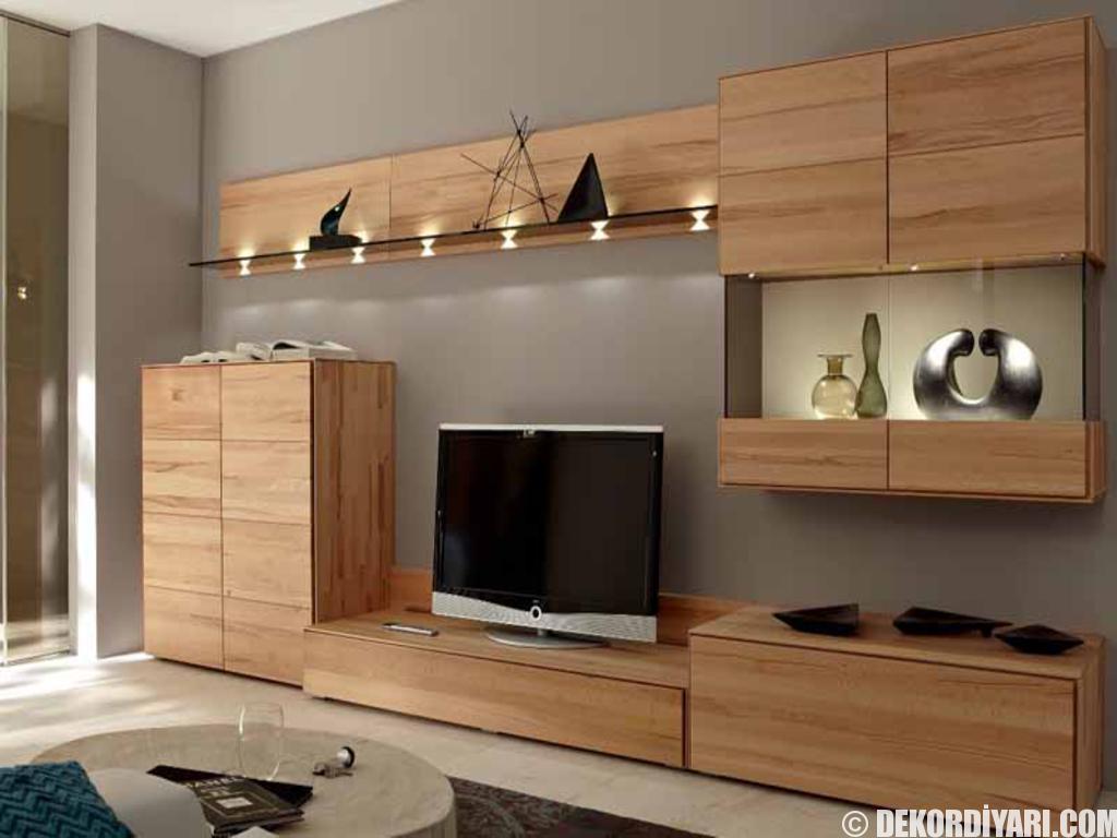 Modern yeni tv unite modelleri 7 - Ahsap Gorunumlu Ucuz Indirimli Duvar Tv Unitesi Modelleri Fiyatlari 2016 4 Jpg